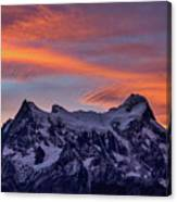 Sunset Clouds At Cerro Paine Grande #3 - Chile Canvas Print