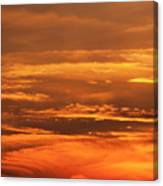Sunset Clouds On Fire Canvas Print
