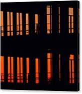 Sunset Color In The Spaces 2  Canvas Print