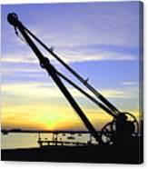 Sunset Crane Canvas Print