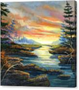 Sunset Creek Canvas Print
