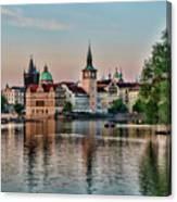 Sunset Cruise Prague Canvas Print