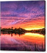 Sunset Culpeper Va Canvas Print