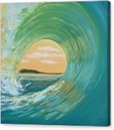 Sunset Curl Canvas Print