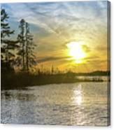 Sunset Dollarville Flooding Newberry Michigan -0243 Canvas Print