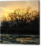 Sunset Falls Canvas Print