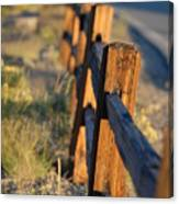 Sunset Fence Canvas Print