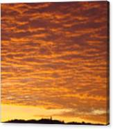 Sunset Fiery Orange Sunset Art Prints Sky Clouds Giclee Baslee Troutman Canvas Print