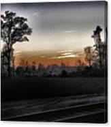 Sunset Fog Canvas Print