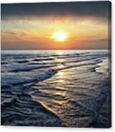Sunset From Newport Beach Pier Canvas Print