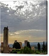 Sunset From San Gimignano Canvas Print