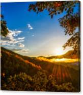 Sunset From The Blue Ridge Parkway Canvas Print