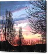Sunset From Tifton Green Canvas Print