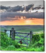 Sunset Gate Canvas Print