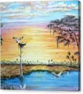 Sunset Gathering Canvas Print