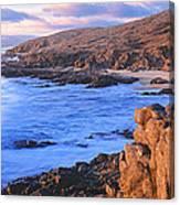 Sunset Glow Along Pacific Coast Canvas Print