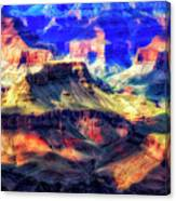 Sunset Glow At Mather Point Canvas Print