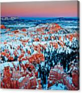 Sunset Glow Of A Hoodoo Nation Canvas Print