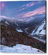 Sunset Glow Over Cannon Mountain Canvas Print