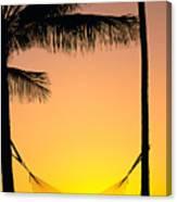 Sunset Hammock Canvas Print