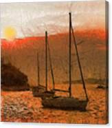 Sunset Harbor Canvas Print