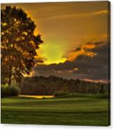 Sunset Hole In One The Landing Canvas Print