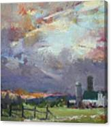 Sunset In A Troubled Weather Canvas Print