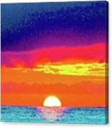 Sunset In Abstract 500 Canvas Print