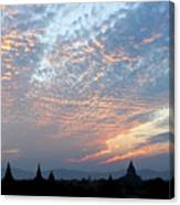 Sunset In Bagan Canvas Print