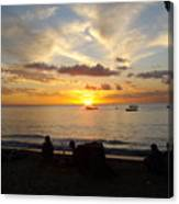 Sunset In Barbados Canvas Print