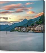 Sunset In Bellagio On Lake Como Canvas Print