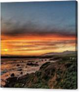 Sunset In Cambria Canvas Print