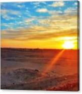 Sunset in Egypt Canvas Print