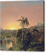 Sunset In Equador Canvas Print