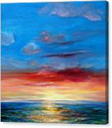 Sunset In Florida Key West. Canvas Print
