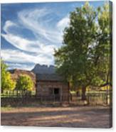Sunset In Grafton Ghost Town I Canvas Print
