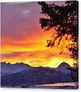 Sunset In Homer Alaska Canvas Print