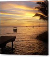 Sunset In Huahine Canvas Print