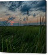 Sunset In Margate Nj Canvas Print