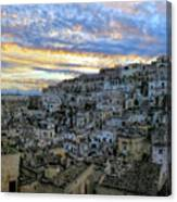 Sunset In Matera.italy Canvas Print
