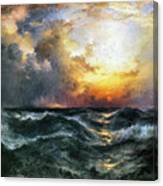 Sunset In Mid-ocean Canvas Print