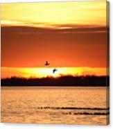 Sunset In Orange Canvas Print