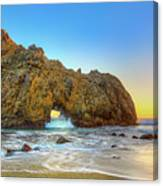Sunset In Pfeiffer Beach Canvas Print