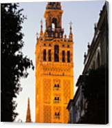 Sunset In Seville - A View Of The Giralda Canvas Print