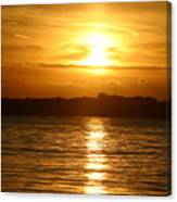 Sunset In Shelter Island  Canvas Print
