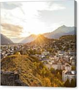Sunset In Sion Canvas Print