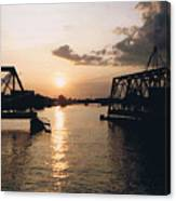 Sunset In Superior Wi Canvas Print