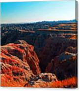 Sunset In The Badlands Canvas Print