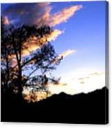 Sunset In The Highlands Canvas Print