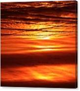 Sunset In The Sand Canvas Print